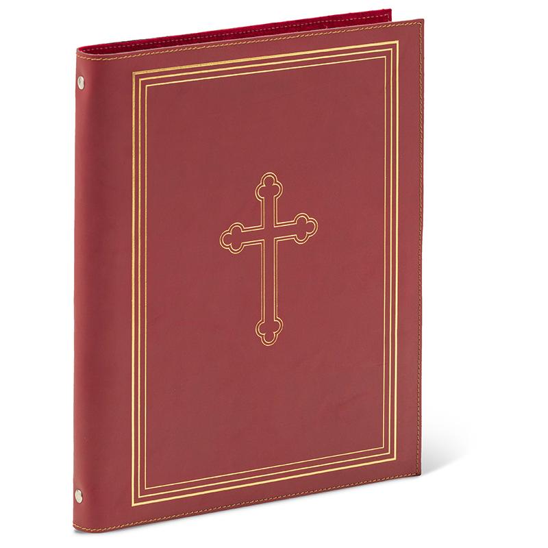 Cartella porta documenti con croce romana